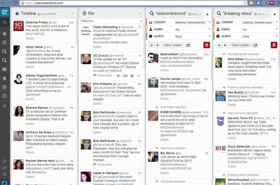 شرخ موقع Tweetdeck