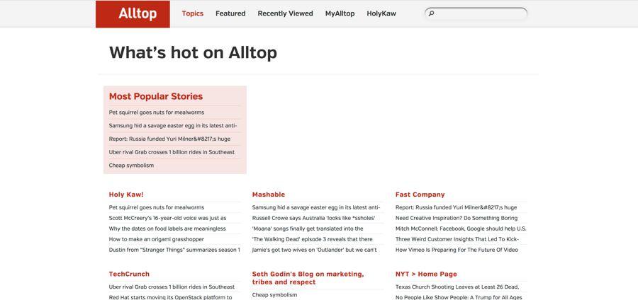 شرح موقع Alltop