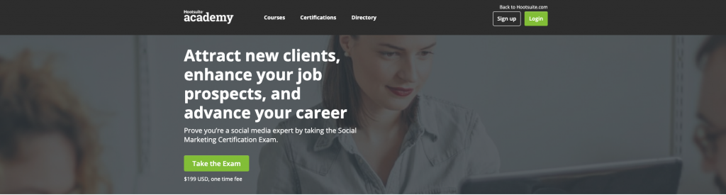 شهادة Hootsuite Social Marketing