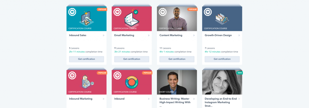 شهادة HubSpot Content Marketing