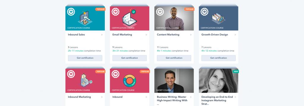 شهادة HubSpot Content Marketing