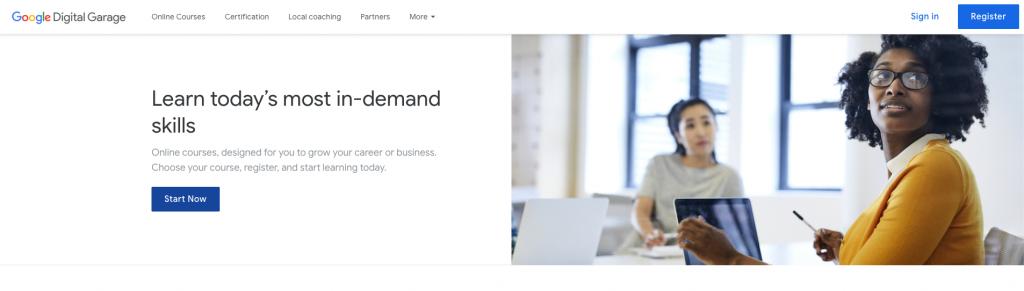 شهادة أساسيات التسويق الرقمي من Google Digital Garage