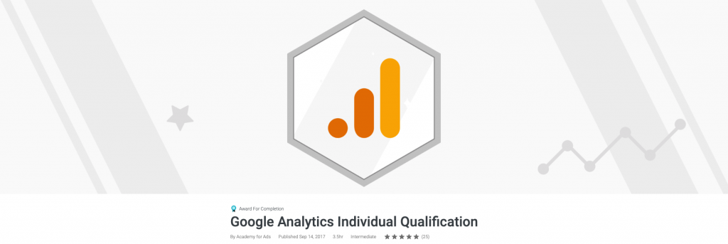 شهادة Google Analytics IQ